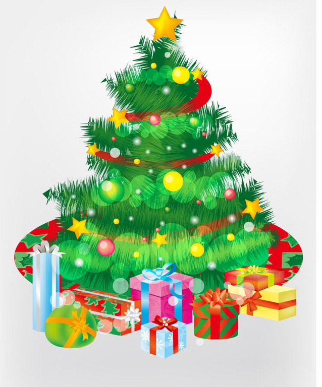14 Free Graphics Christmas Tree Presents Images