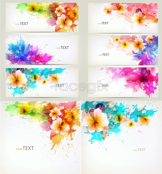 Colorful Banners Vector Free