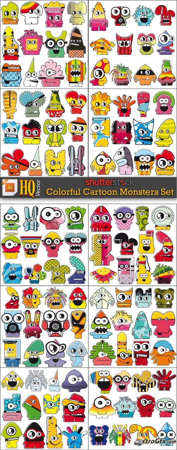Colorful Cartoon Monster