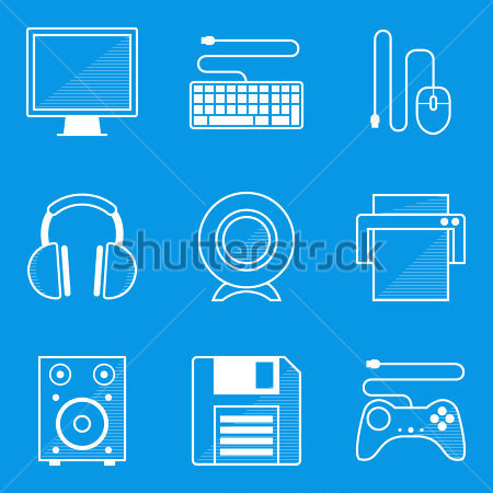 Computer Icon Blueprint