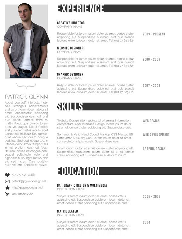Resume Templates Simple Sample Resume - Resume Example Cv Template