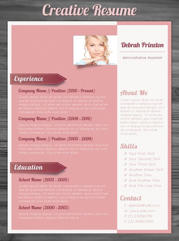 Creative Resume Format Template