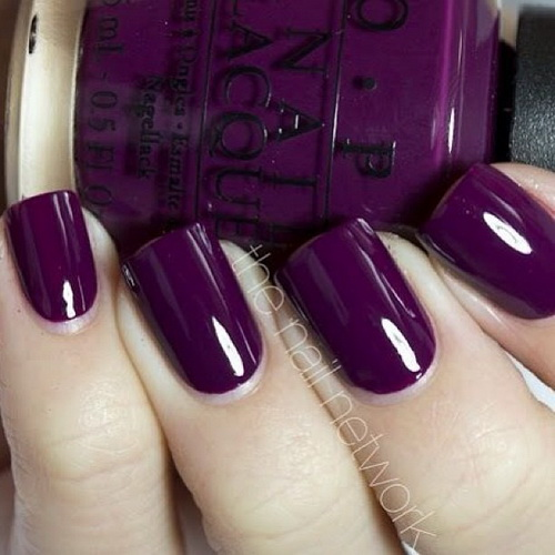 16 Dark Purple Nail Designs Images