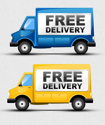 7 Delivery Truck Icon Images