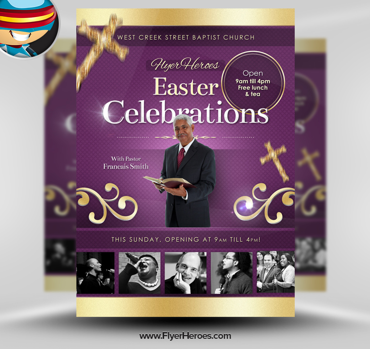 Easter Church Flyers Templates Free