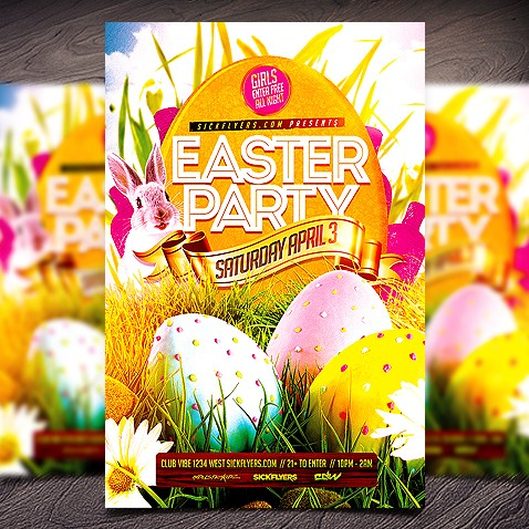 Easter Flyer Templates Psd Free Download