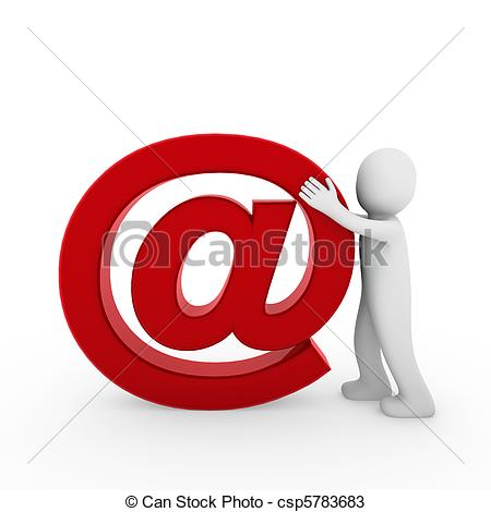 Email Symbol Clip Art Red