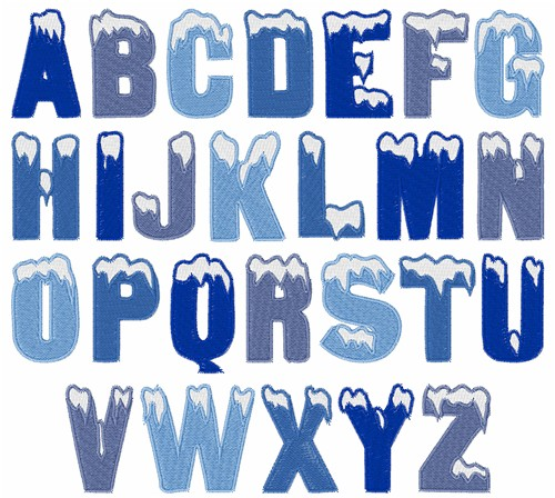 12 Ice Letters Font Images
