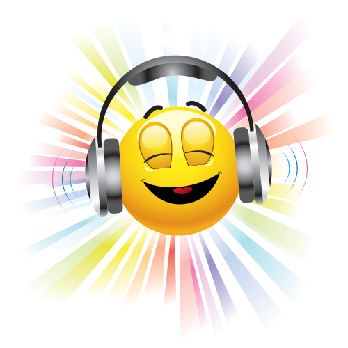 14 Emoticon With Headphones Images