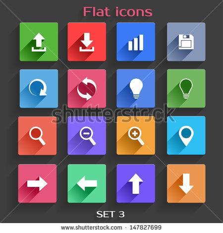 Flat Navigation Icons