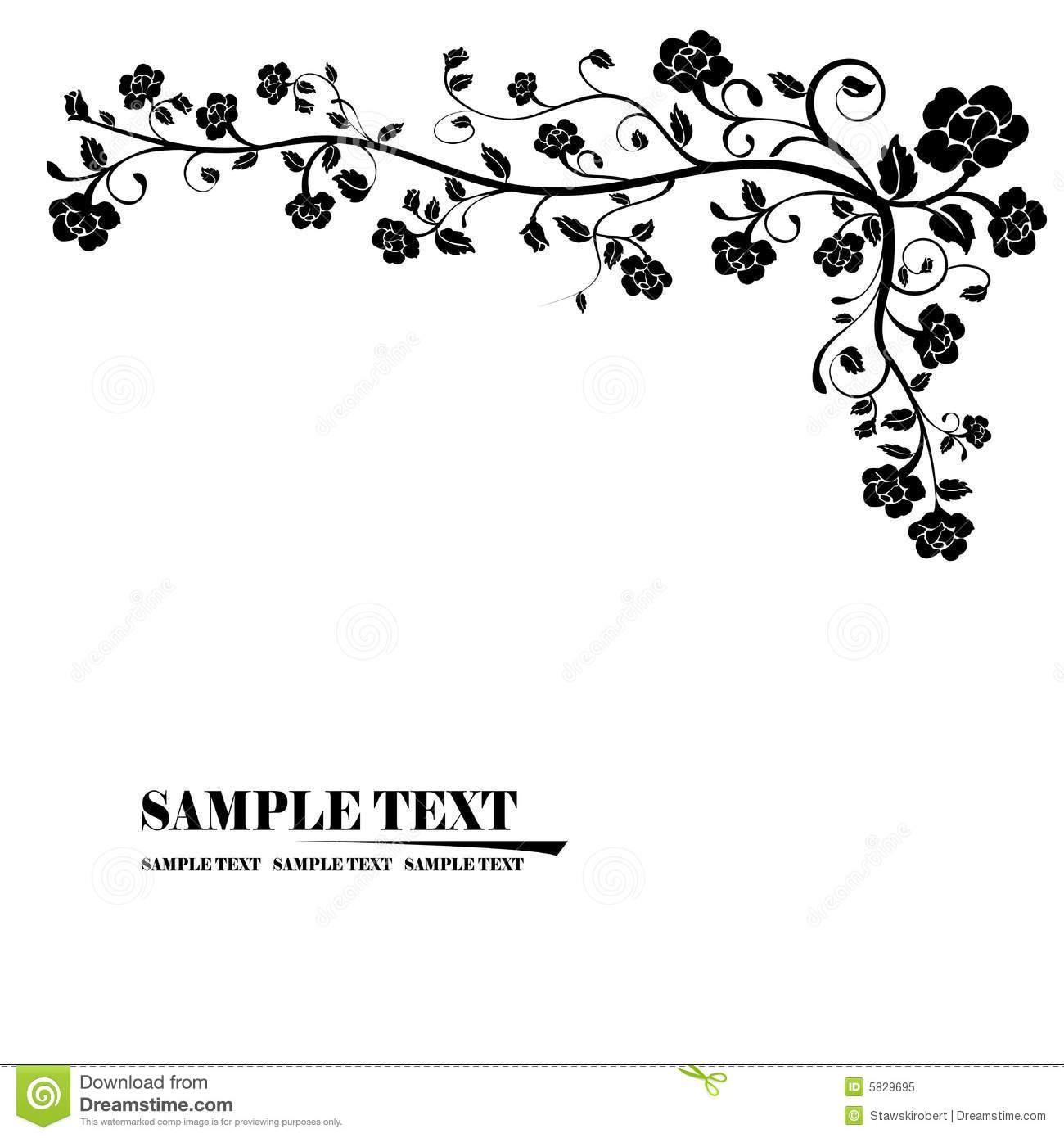 Floral Corner Clip Art Banner
