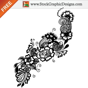 8 Hand Drawn Free Vector Ornaments Images