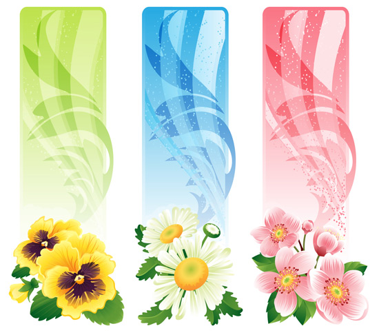 14 Vector Floral Banner Clip Art Images