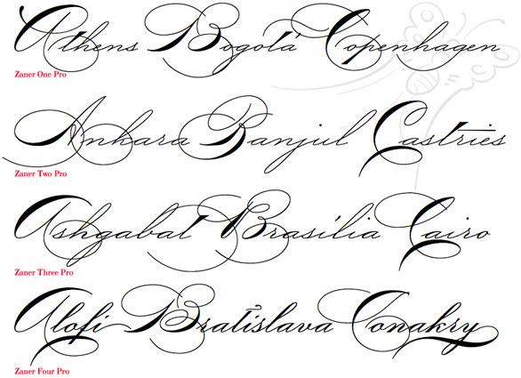 6 Cursive Font Styles Images