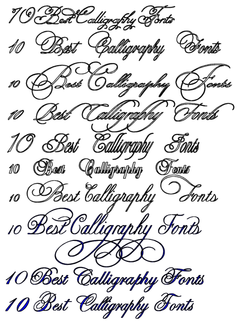 13 Best Calligraphy Fonts Alphabet Images