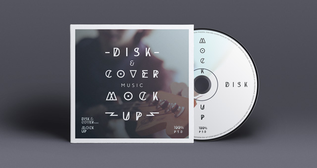 Free CD Cover Design Template PSD