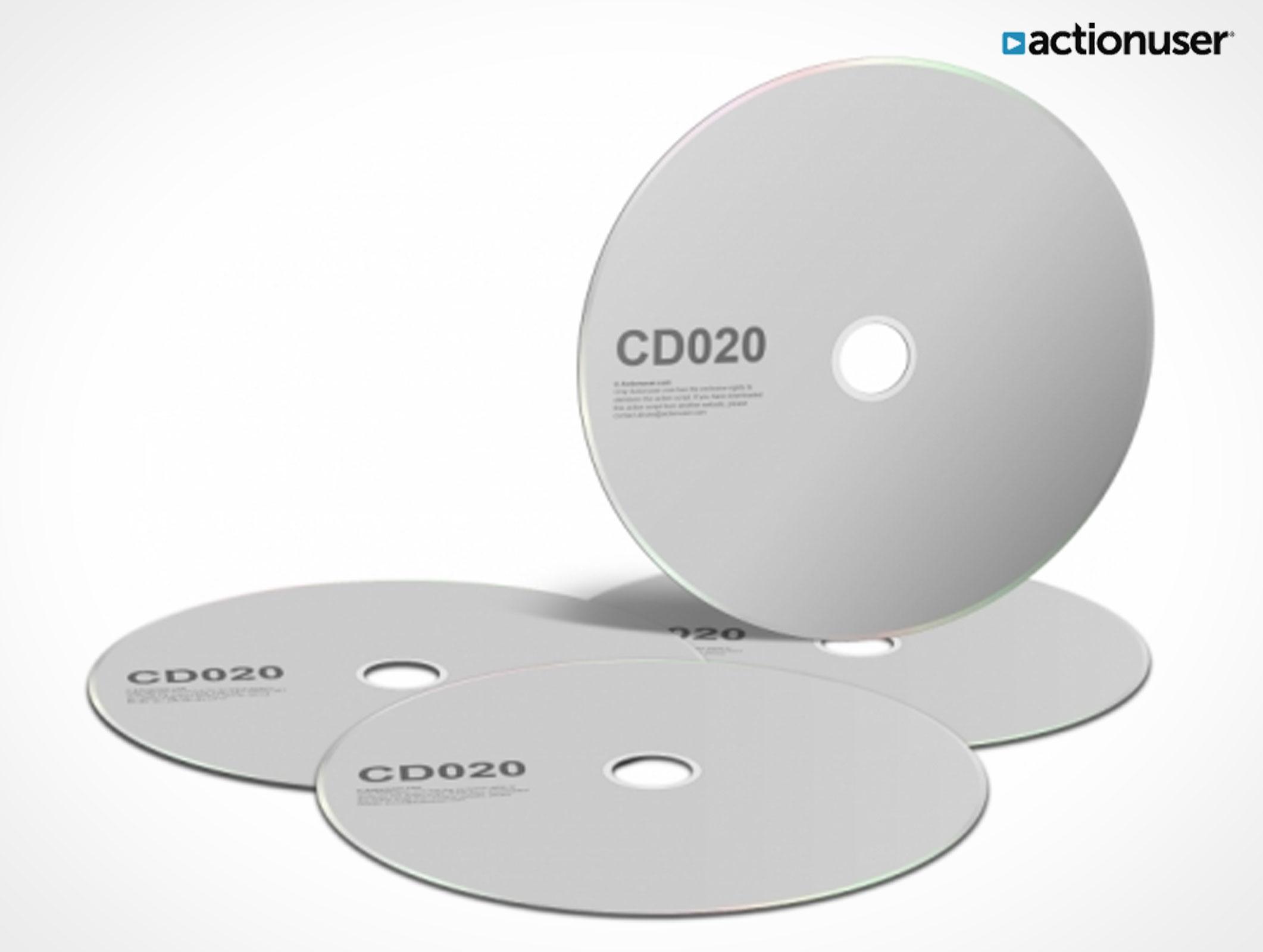 Free CD Template PSD Mockup