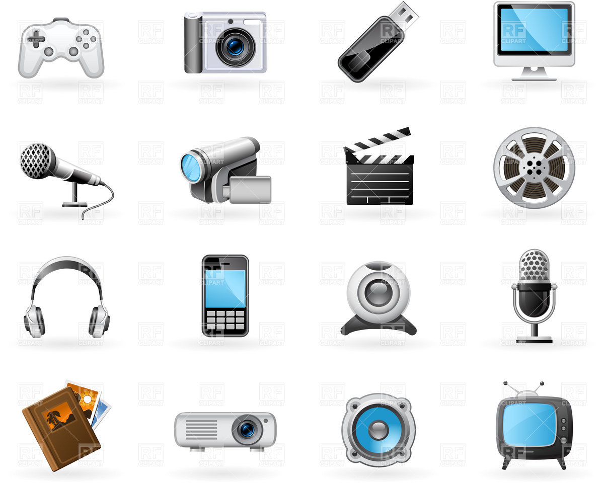 11 Multimedia Icons Free Images