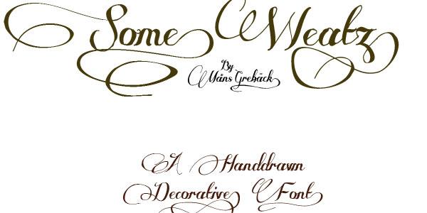 Free Cursive Tattoo Fonts