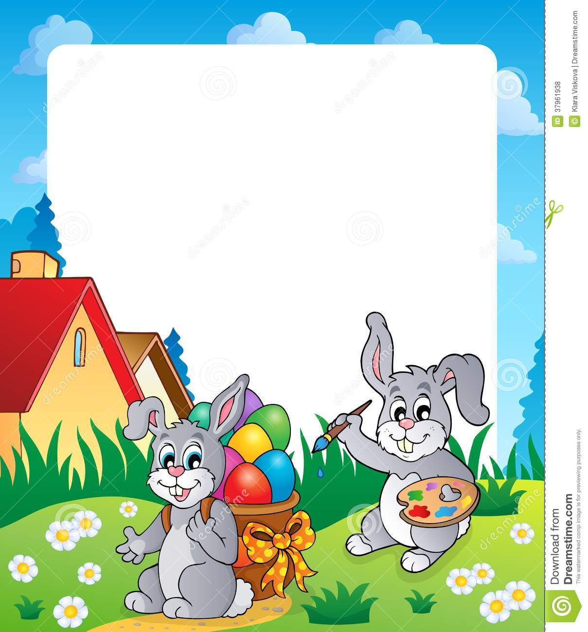 18 Easter Bunny Vector Border Images - Vector Easter Bunny Border ...