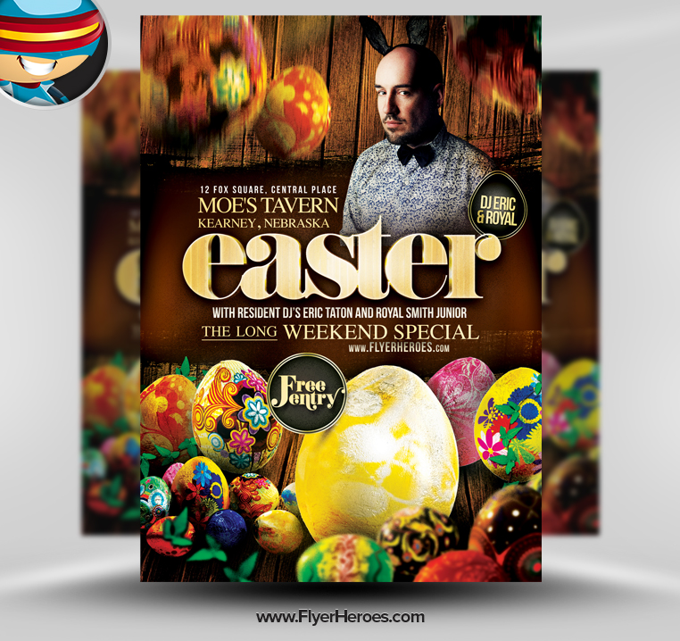 15 Easter Flyer Template PSD Images