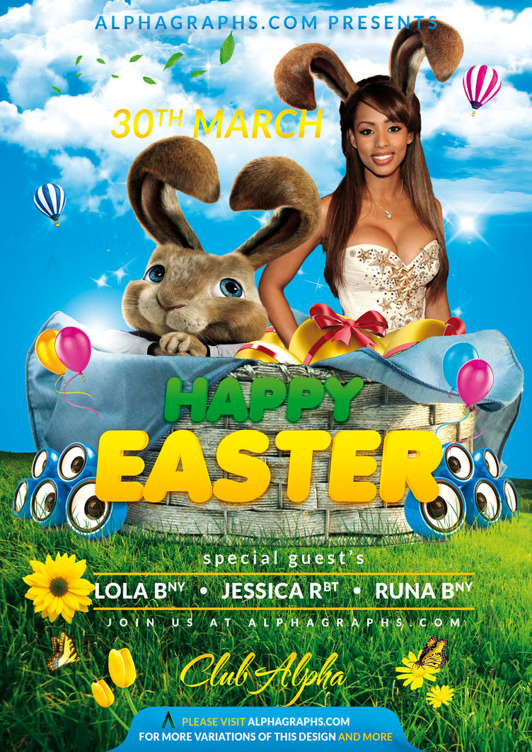 15 Easter Flyer Template PSD Images - Free Easter Flyer PSD
