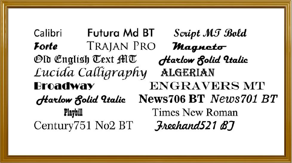 Free word fonts microsoft images