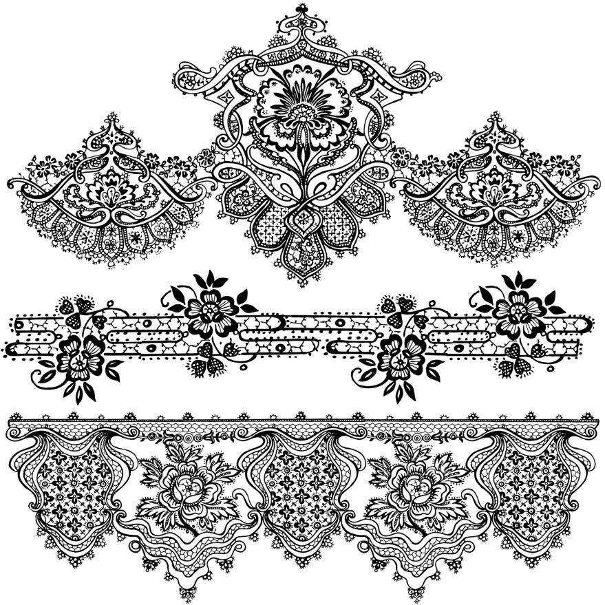 14 Lace Border Designs Images