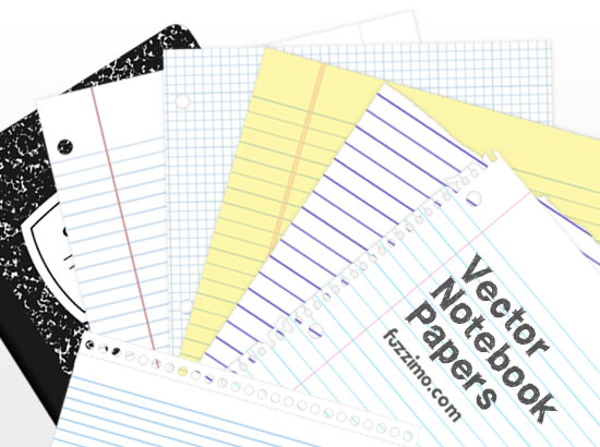 8 Notebook Paper Vector Images