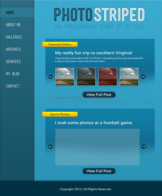 Free PSD Templates Photography