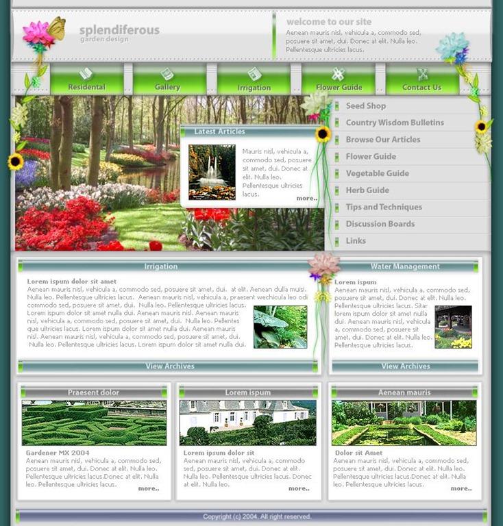 Free PSD Website Template