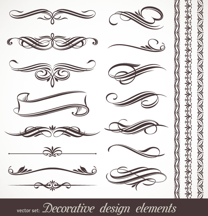 Free Vector Calligraphic Design Elements