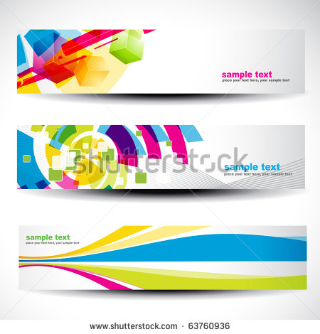 6 Abstract Vector Header Images