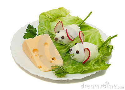 Funny Mouse with Cheese