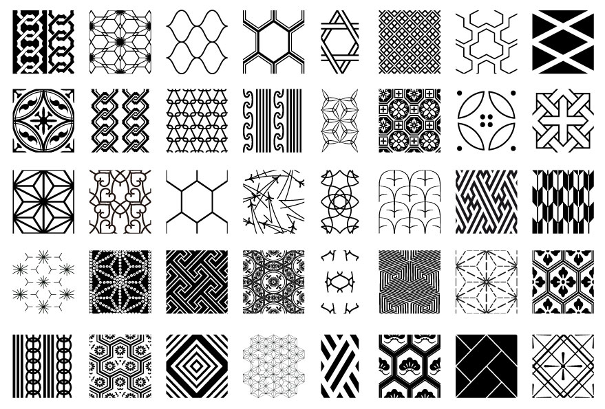 11 Geometric Pattern Vector Silhouette Images