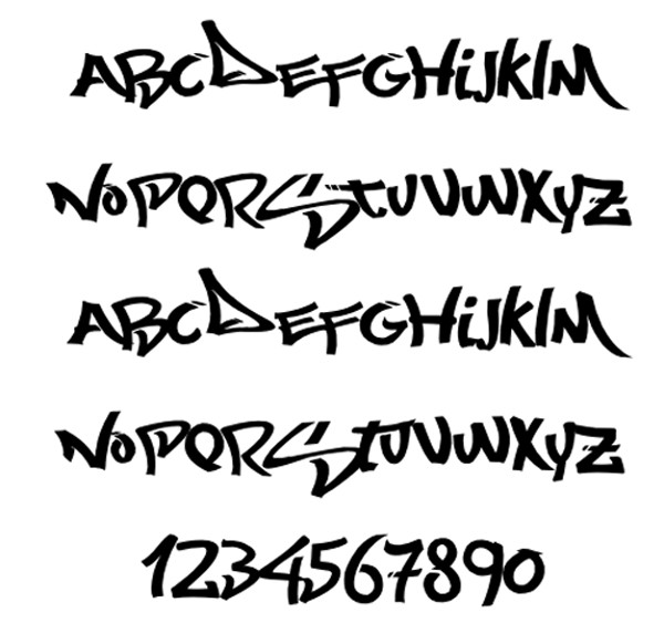 10 New Graffiti Fonts Images