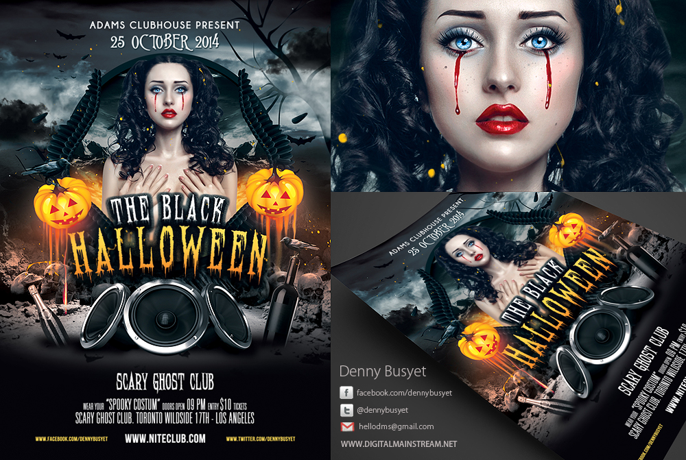 13 Halloween Model PSD Images
