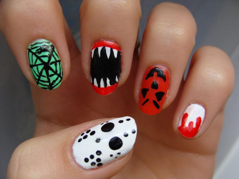 13 Cool Halloween Nail Designs Images , Halloween Nail Art