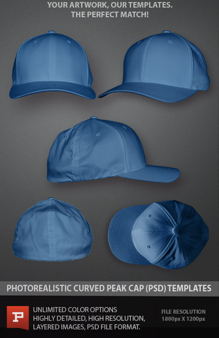 14 Hat Template PSD Images