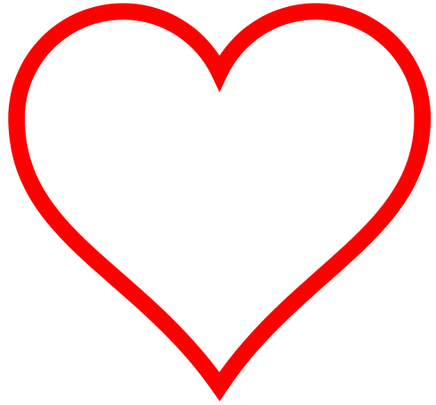 Hollow Heart Clip Art