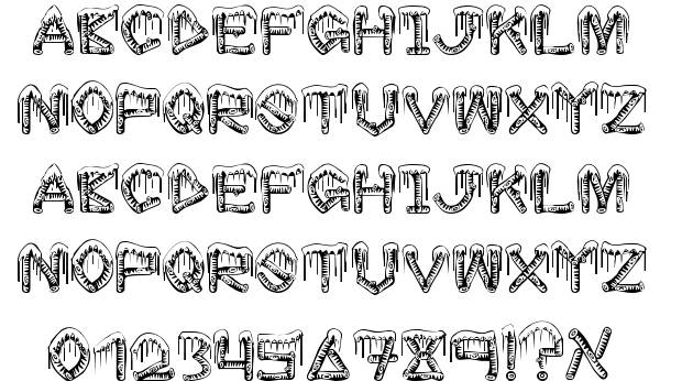 12 Ice Letters Font Images - Embroidery Patterns, Icicle ...