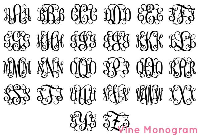 Interlocking Monogram Letters