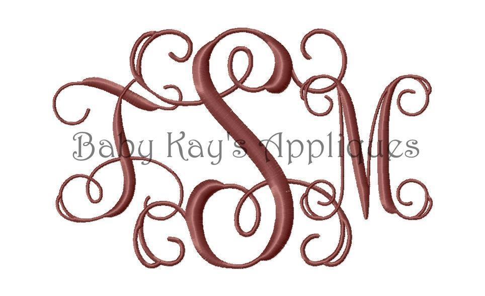 Interlocking Vine Monogram Font