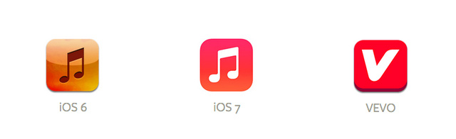 iPhone iOS 7 Music App Icon
