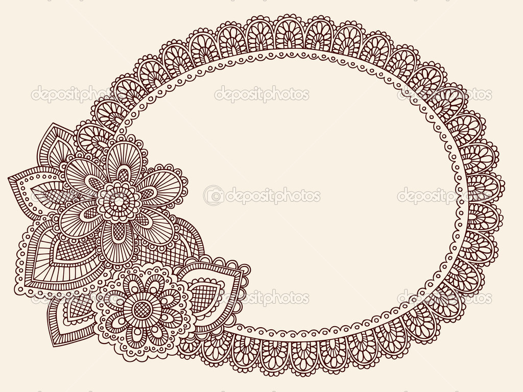 lace border drawing - photo #17