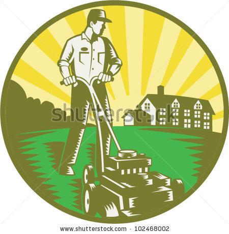 Lawn Mowing Clip Art