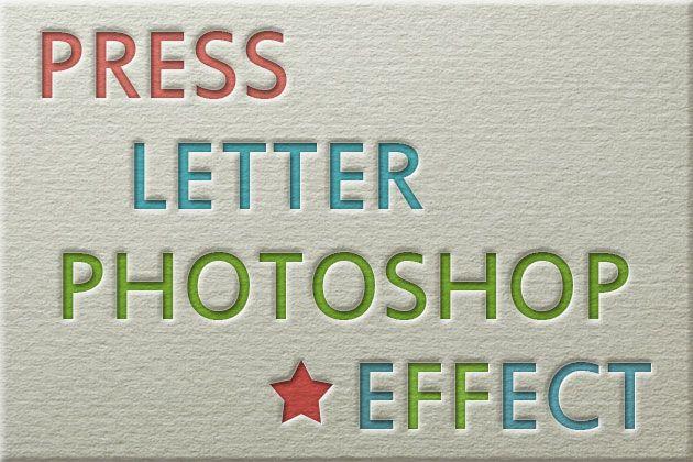 Letterpress Effect Photoshop