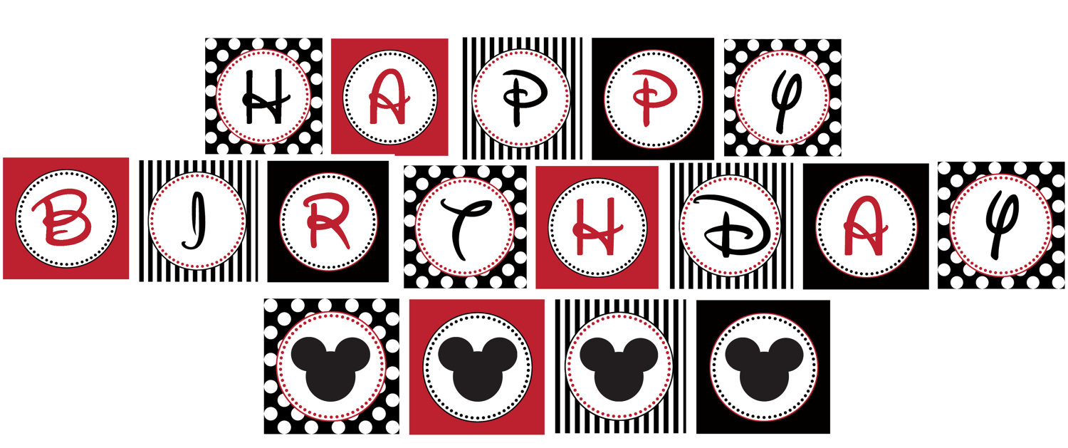 free mickey mouse birthday printables - Roho.4senses.co