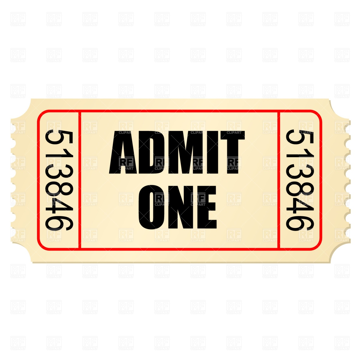 17 Ticket Stub Vector Free Images