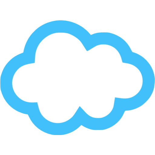 12 Blue Cloud Icon Images